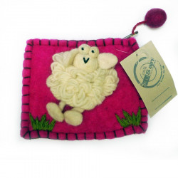 Purse With Kusan Sheep Pin
