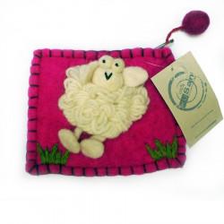 Purse With Kusan Sheep Pin