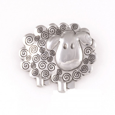 Sheep Tin Brooch