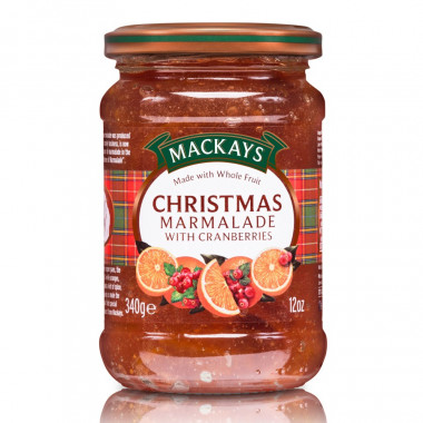 Orange & Cranberries Christmas Marmalade Mackays 340g