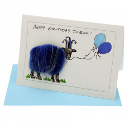 Happy Baa-thday to Ewe Postcard