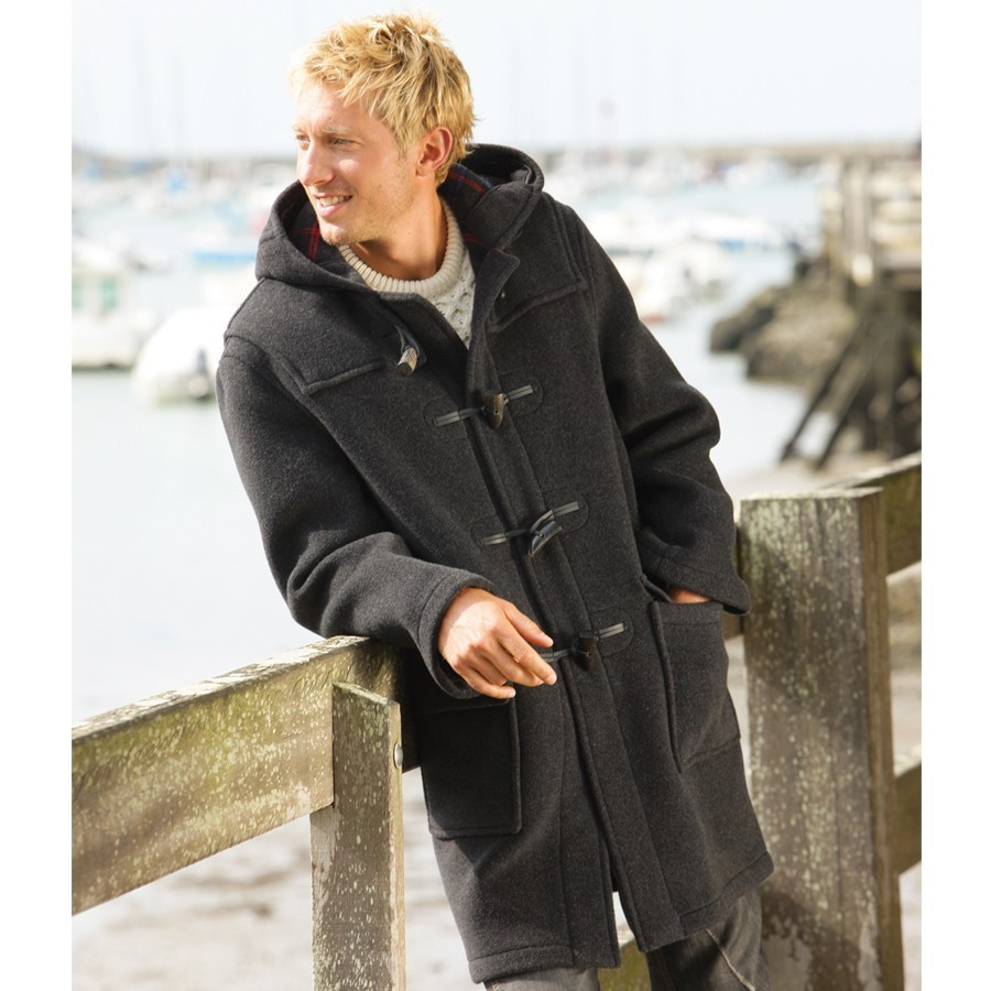 Martin Dark Grey Duffle-Coat