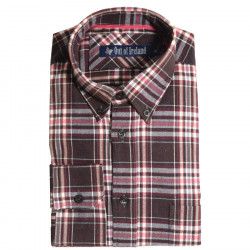 Chemise Carreaux Bordeaux et Rose Out of Ireland