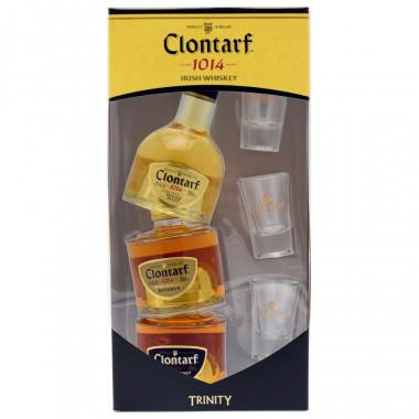 Clontarf Trinity 3 x 20cl + 3 glasses 40°