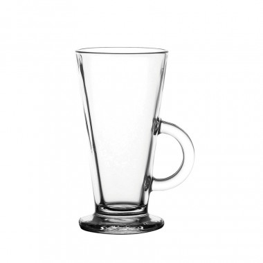 Whittard Latte Chocolate Glass Mug 285ml