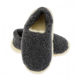 Grey Siberian Slippers