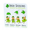 Leprechaun Irish Seasons Coaster
