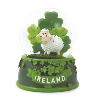 Shamrock & Sheep Snow Globe