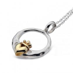 Silver Claddagh Heart Pendant