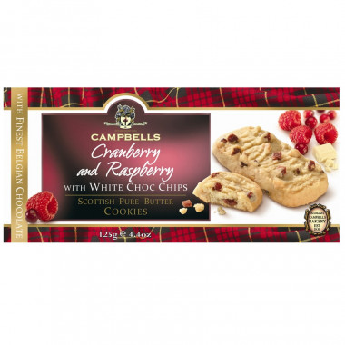 Cookies Canneberge et Framboise 125g