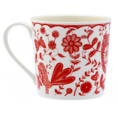 Bird & Owl Floral Mug 350ml
