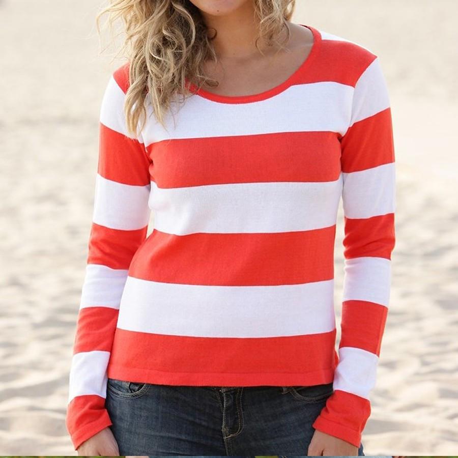 Orange Cardigan Sweater