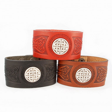 Wide Cuff Leather Bracelet