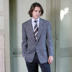 Harris Tweed Dark Grey Laxdale Jacket