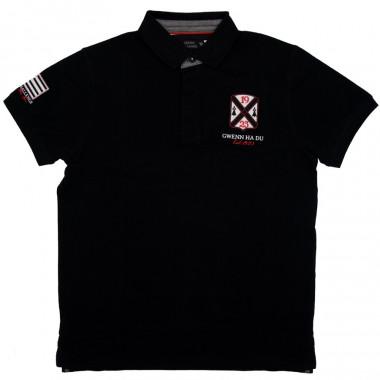 Celtic Alliance Breizh Black Polo Shirt