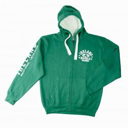 Sweat Zippé Vert à Capuche Ireland 1922
