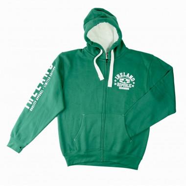 Ireland 1922 Green Zip Hoodie