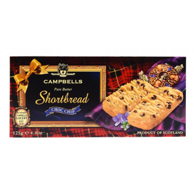Campbells Shortbreads Chocolate Chips 125g