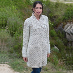 Manteau Torsadé Naturel Inis Crafts