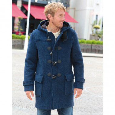 London Tradition Barry Blue Duffle-Coat