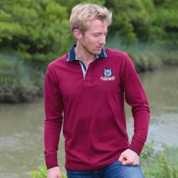 Black Wellis Burgundy Wellington Polo Shirt