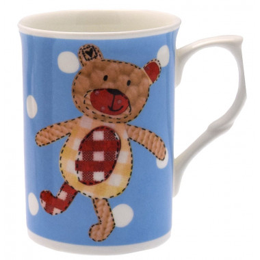 Patchwork Ted Mug 300ml