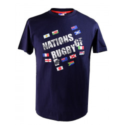 Nations of Rugby Flags Navy T-shirt