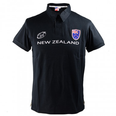 Nations of Rugby Black Rick Polo Shirt