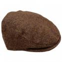 Hanna Hats Brown Tweed Flat Cap