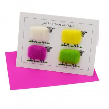 Just Four Ewes Postcard