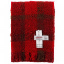 Cushendale Red Boucle Mohair Scarf