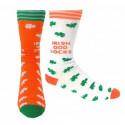 Mismatched Socks Orange and White