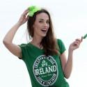 T-shirt Vert Pailleté Ireland