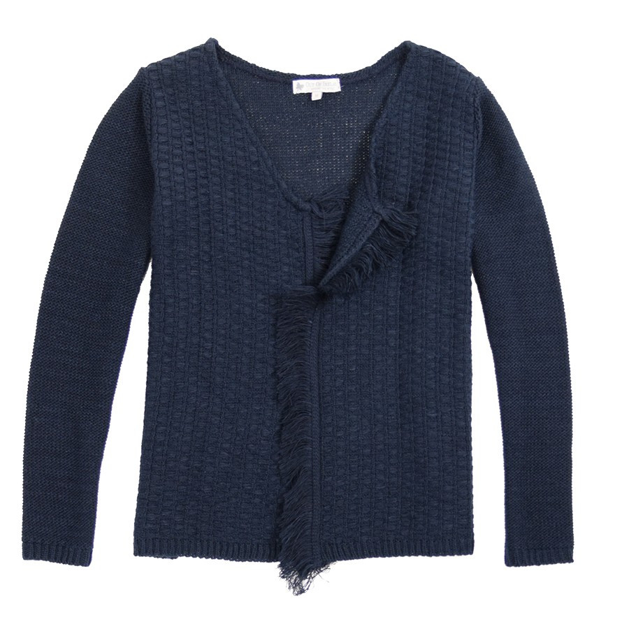 efffa0251 Out Of Ireland Fringes Facets Cardigan