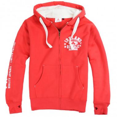 Ireland 1922 Red Zip Hoodie