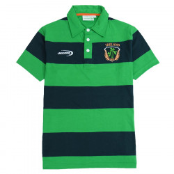 Lansdowne Ireland Green and Navy Striped Polo Shirt