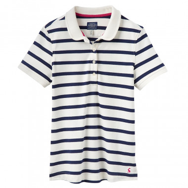 Tom Joule Cream-Navy Stripes Polo Shirt