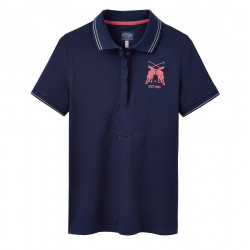 Tom Joule Piqued Knit Polo Marine Blue