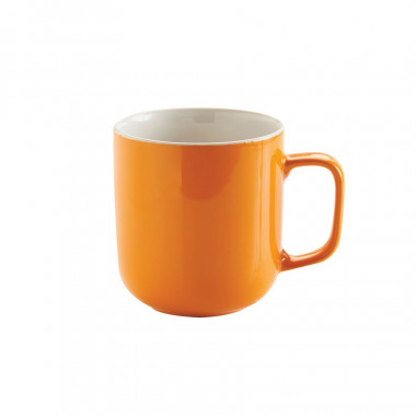 Mug Orange en Grès Brillant 400ml