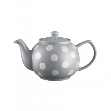 Silver Spotted Teapot Sandstone 2 Mugs 450ml