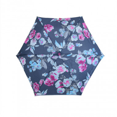 Tom Joule Grey Umbrella with Flowers