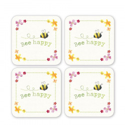 Coaster x 4 Bee Collection