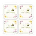 Dessous de Verre x4 Collection Bee