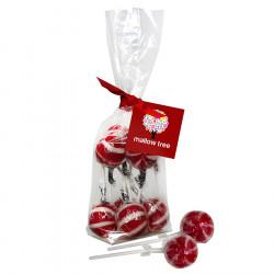 Mallow Tree Cherry Lollipops x8 220g