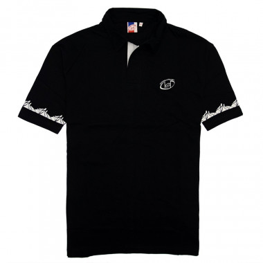 Nations of Rugby Black Short Sleeve Polo