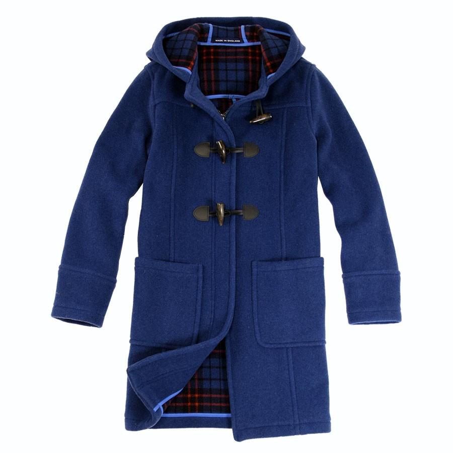 london tradition indigo blue fiona duffle coat. Black Bedroom Furniture Sets. Home Design Ideas