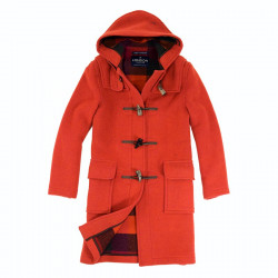 Duffle-Coat Emily Orange Chiné London Tradition