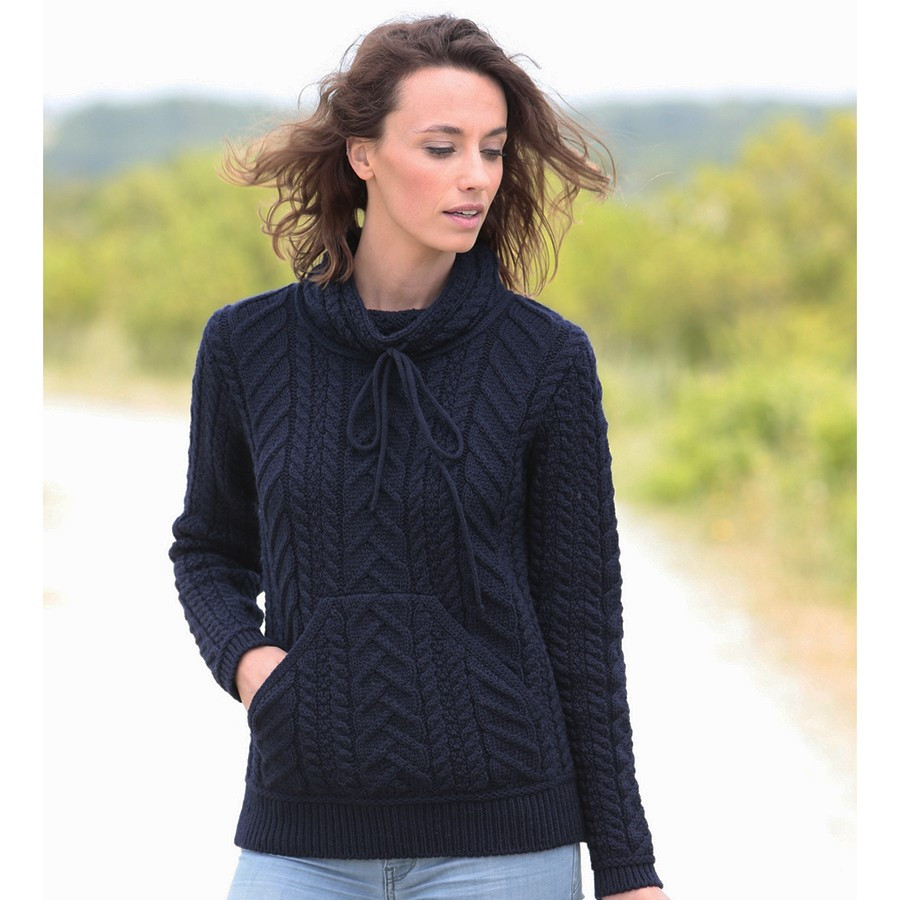 Inis crafts navy sweater for Inis crafts sweater price