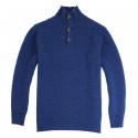 Out Of Ireland Indigo High Collar Sweater