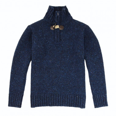 Pull Col 1/2 zip Brandebourg Bleu Chiné Best Yarn